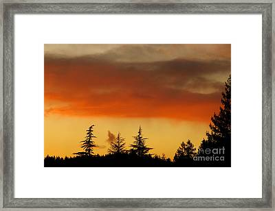 Framed Print featuring the photograph A Distant Rain by CML Brown