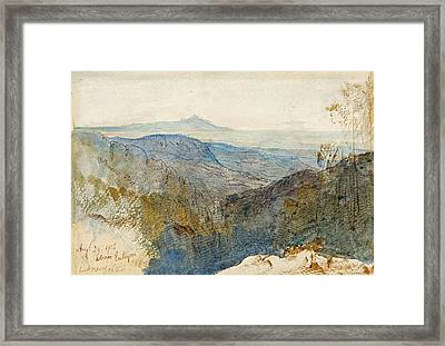 A Distant View Of Mount Athos Framed Print