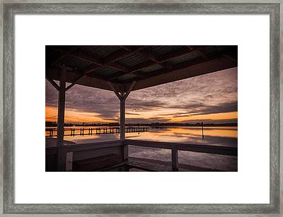 A Dockside View Framed Print