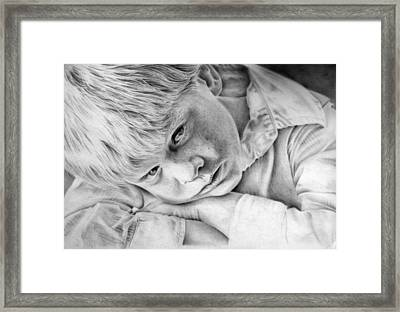 A Doleful Child Framed Print