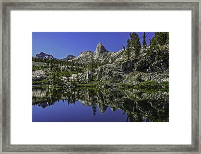 A Dollar Lake Reflection Framed Print