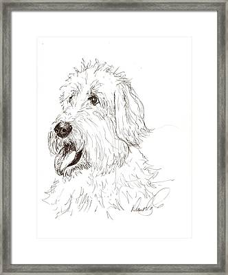 A Doodle Of My Doodle Framed Print by Diane Daigle