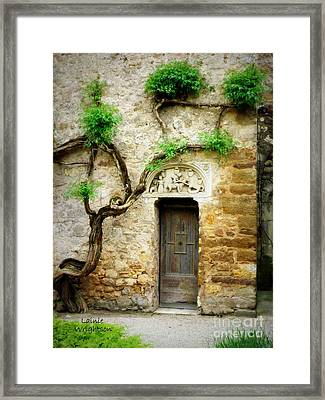 A Door In The Cloister Framed Print by Lainie Wrightson