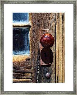 A Door To The Past Framed Print