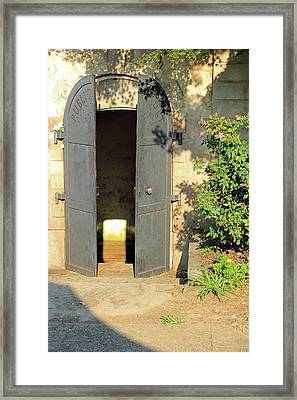 A Door To Where Presidents And A First Lady Rested In Peace At Congressional Cemetery -- 2 Framed Print