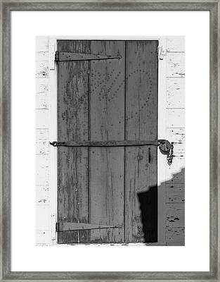 A Door With Character Framed Print