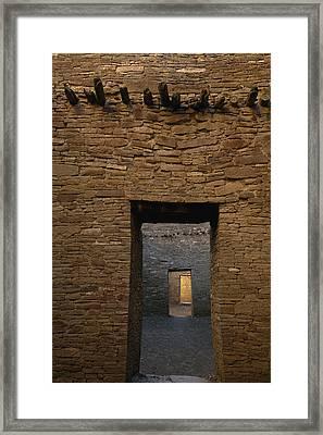 A Doorway And Walls Inside Pueblo Framed Print by Bill Hatcher