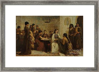 A Dorcas Meeting In The 6th Century Framed Print by Celestial Images