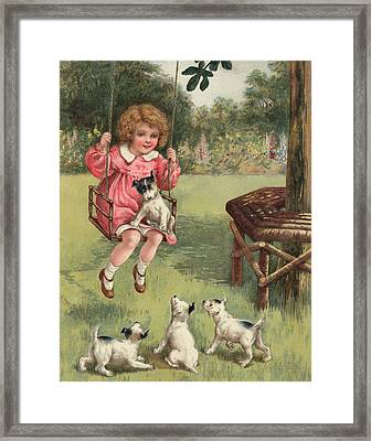 A Doubtful Pleasure Framed Print by English School