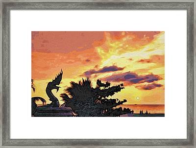 Dragon From Karon Beach Framed Print