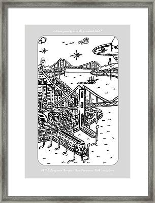 A Dream Over Paradise Framed Print by Anthony Benjamin