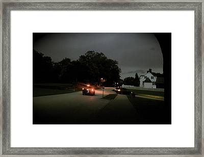A Dreary Ride Framed Print by Aimee Galicia Torres