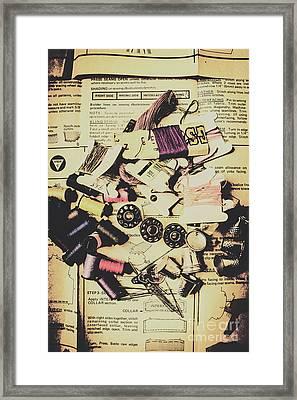 A-dressing Fashion Design Framed Print
