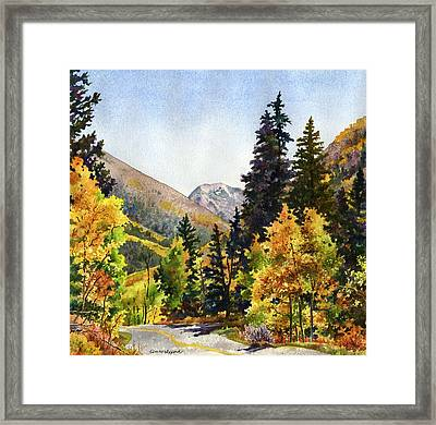 A Drive In The Mountains Framed Print by Anne Gifford