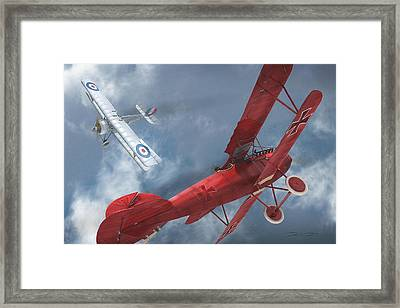 A Duel Begins - The Red Baron Framed Print by David Collins