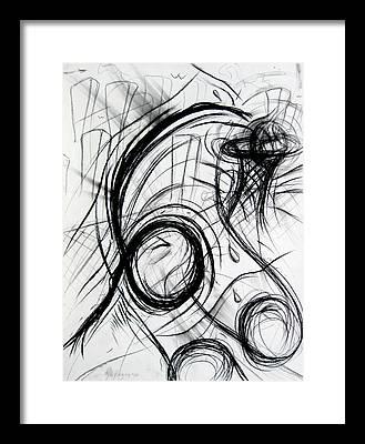 Michael Jordan Dunk Drawings Framed Prints