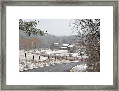 A Dusting Of Snow Framed Print