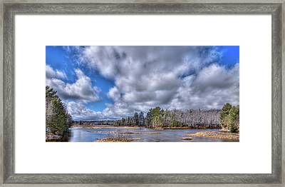 Framed Print featuring the photograph A Dusting Of Snow by David Patterson