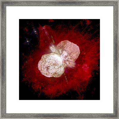 A Dying Star, Eta Carinae, Spews Gas Framed Print by Nasa