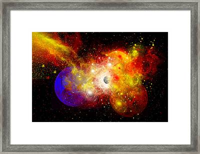 A Dying Star Turns Nova As It Blows Framed Print by Mark Stevenson