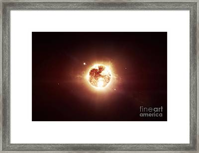A Dying Star Which Will Soon Give New Framed Print by Tomasz Dabrowski