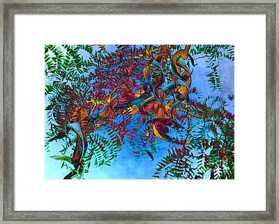 A Fabric Of Illusion Framed Print