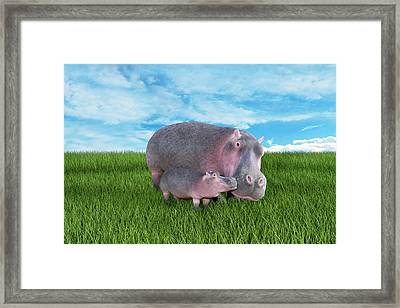 A Face Only A Momma Could Love Framed Print