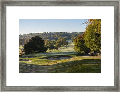 A Fair Day On The Fairway - Whitemarsh Valley Country Club Framed Print