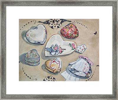 A Fair Of Hearts Framed Print