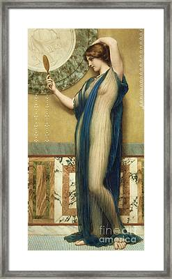 A Fair Reflection Framed Print by John William Godward