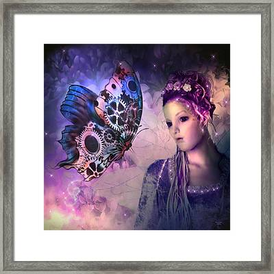 A Fairy Butterfly Kiss Framed Print