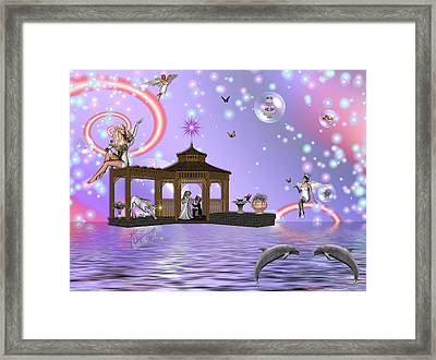 A Fairyland Proposal Framed Print by Morning Dew