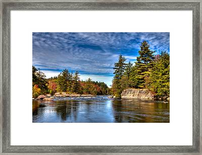 A Fall Afternoon On The Moose River Framed Print by David Patterson