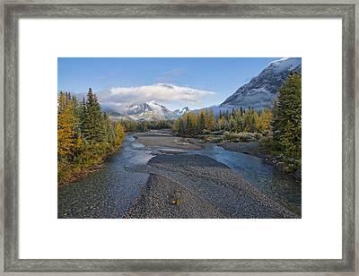A Fall Day In Alberta Framed Print