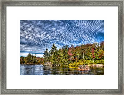 A Fall Day On The Moose River Framed Print by David Patterson