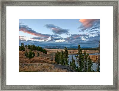 A Fall Evening In Hayden Valley Framed Print