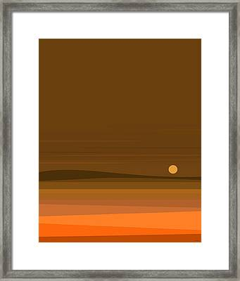 A Fall Moonrise Framed Print
