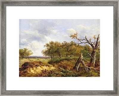 A Fallen Oak In A Landscape Framed Print