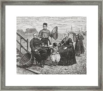A Family From Urk, Flevoland, The Framed Print