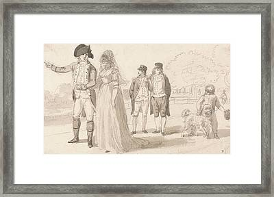 A Family In Hyde Park Framed Print