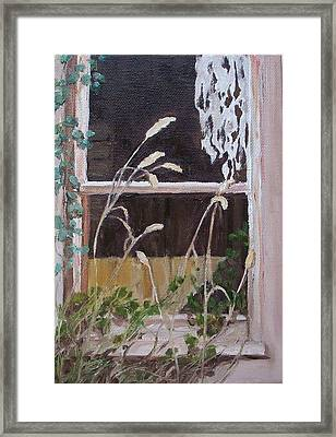 A Family Lived Here Framed Print by Irene Corey
