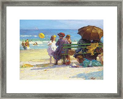 A Family Outing Framed Print by Edward Henry Potthast