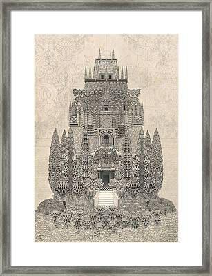 A Fantastic Tiered Structure Framed Print by Herbert Crowley