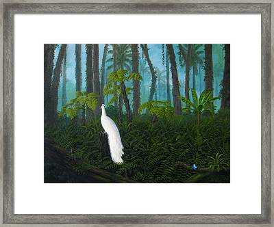 A Fantasy In White Framed Print