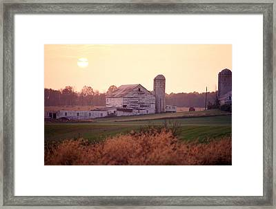 A Farm In Rockville, Maryland Framed Print