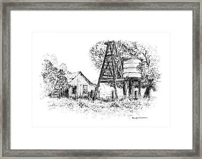 A Farm In Schroeder Framed Print