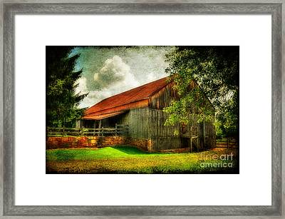 A Farm-picture Framed Print by Lois Bryan