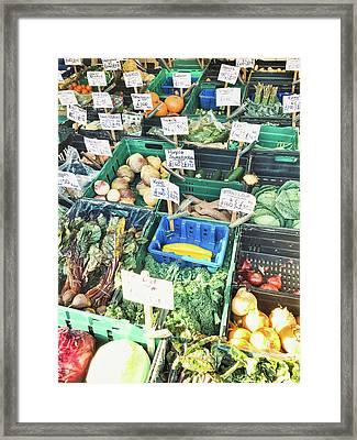 A Farmers' Market Framed Print
