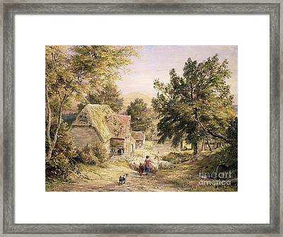 A Farmyard Near Princes Risborough Framed Print by Samuel Palmer