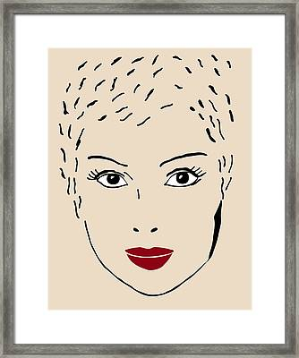 A Fashion Model Framed Print by Frank Tschakert